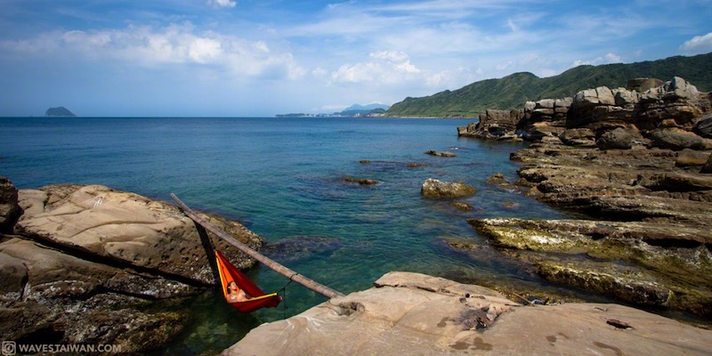 Taiwan East Coast Hammock over the water | Surf Travel Taiwan