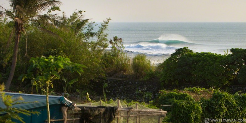 Taiwan East Coast waves in the distance | Surf Travel Taiwan